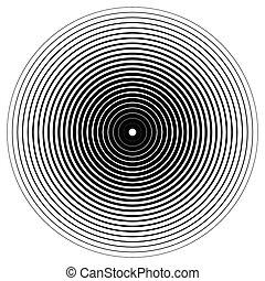 effect., abstratos, círculos, vector., ondulação, círculo, concêntrico, element.