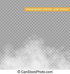 effect., aislado, o, niebla, humo, transparente, especial