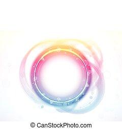 effect., arc-en-ciel, cercle, frontière, brosse