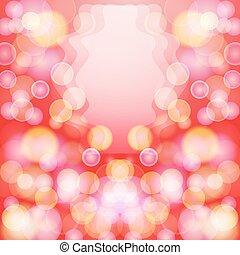 effect., astratto, luminoso, bokeh, fondo, rosso
