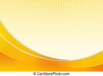 effect., fließen, abstrakt, gelber , design, gebogen, web, plan, glatt, schablone, orange, geschaeftswelt, halftone, lines., hintergrund, wellen, welle, banner, illustration., kurve, bewegung, professionell, korporativ, oder