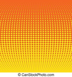 effect., illustration, halftone, vecteur, fond, orange