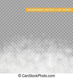 effect., isolé, ou, brouillard, fumée, transparent, spécial