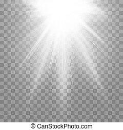 effect., lumière, isolé, illustration, arrière-plan., vecteur, spotlight., transparent