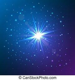 effect., luz, star., ilustración, vector, brillo, brillar