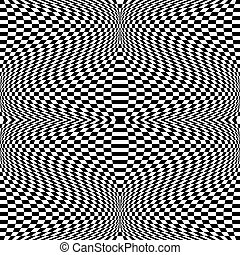 effect., mönster, abstrakt, förvridning, vektor, stark, art.