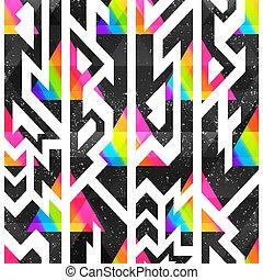 effect., modello, colorato, seamless, grunge, geometrico