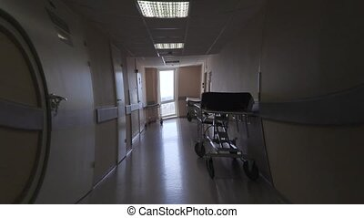 effect of feeling unwell in the hospital corridor. visual...