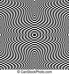 effect., patrón, resumen, distorsión, vector, fuerte, art.
