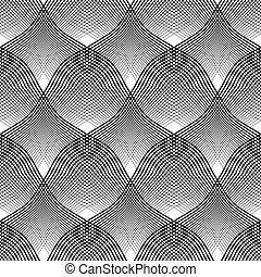 effect., pattern., côncavo, seamless, óptico, convexo