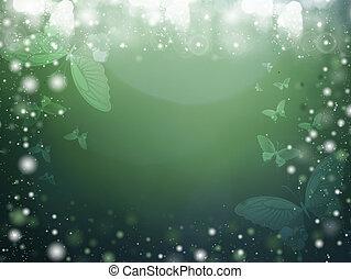 effect., primavera, bokeh, plano de fondo, colores, difuso