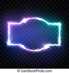 effect., quadro, néon, rua, em branco, style., brilhar, experiência., glowing, retro, 80s, design., 3d, elétrico, coloridos, clube, signboard, sinal., ilustração, tecno, bandeira, transparente, luz, vetorial, noturna