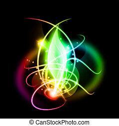 effect., résumé, vecteur, éclairage, fond