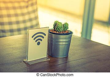 effect., vendimia, imagen, wifi, libre, señal, ), procesado,...