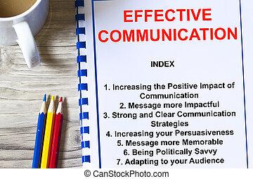 Effective communication concept-