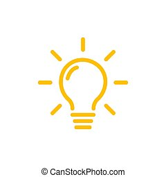 Effective thinking concept solution bulb icon with ...