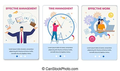 Effective Time Management and Work Mobile Page Set