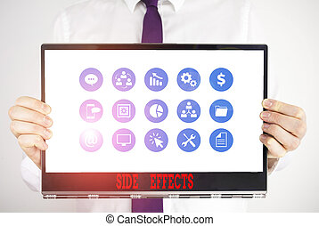 effects., ビジネス, textured, 保有物, 薬, 効果, テキスト, 医学, ∥あるいは∥, 人間, 昇進, 概念, 手書き, マレ, ボール紙, 厚く, 好ましくない人物, concept., 二次, 意味, 待遇, 側
