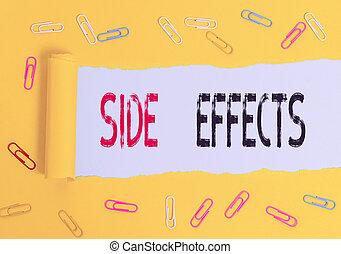 effects., treatment., 側, 意味, テキスト, 医学, ∥あるいは∥, 好ましくない人物, 薬, 効果, 概念, 手書き, 二次