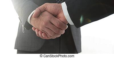 effektív, tárgyalás, noha, client., ügy fogalom, photo.