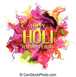 effekt, flüssiglkeit, farben, pulver, ink., dhulandi, fluid., card., fest, hindu, rangpanchami, explodieren, staub, glücklich, bunte, festlicher, holi, textured, banner, bewegung, spritzer, lancierte