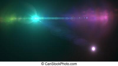 effekt, leuchtsignal, linse