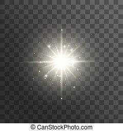 effekt, licht, glühen