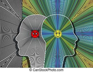 effekte, von, positive einstellung