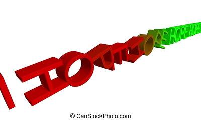 effet, bas, concept, texte, espoir, domino