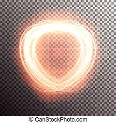 effet lumière, spécial, flamme