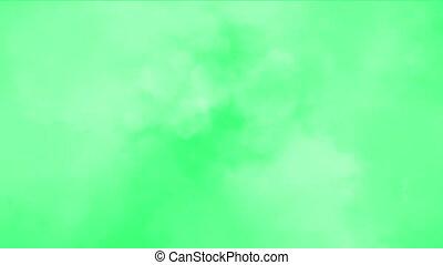 effet, nuages, écran, vert
