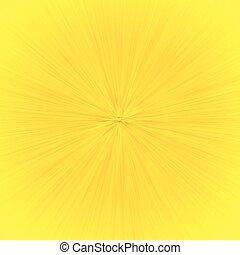 effet, speedline, zoom, jaune, dessin animé