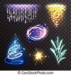 effets, lumière, ensemble