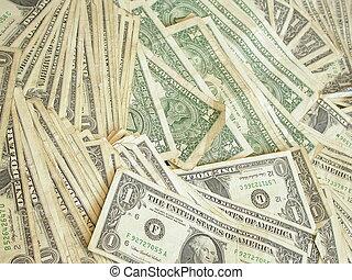 effetti, dollaro, uno