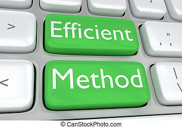efficace, concept, méthode