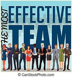 efficace, equipe affaires