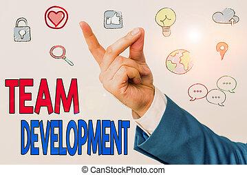 efficacité, texte, development., mot, amélioration, équipe, ...