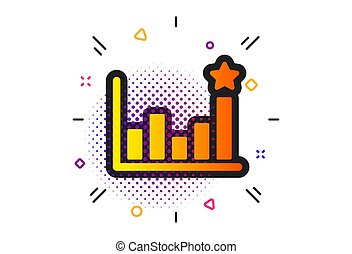 Efficacy icon. Business chart sign. Vector - Business chart...
