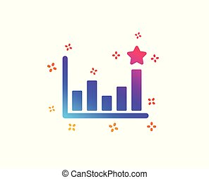 Efficacy icon. Business chart sign. Vector - Efficacy icon....