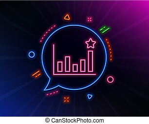 Efficacy line icon. Business chart sign. Vector - Efficacy...