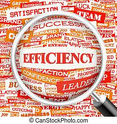 EFFICIENCY. Background concept wordcloud illustration. Print...