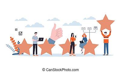 Efficiency concept, creative business process in team. Development