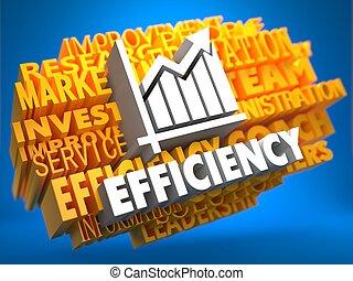 efficiency., groei, concept