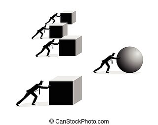 Efficiency in business - Business concept vector...