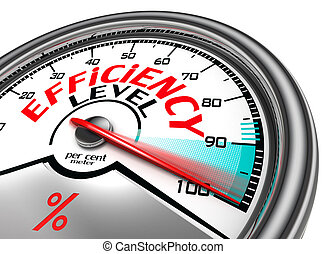 efficiency level conceptual meter indicate hundred per cent,...