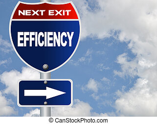 Efficiency road sign