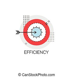 Efficiency Target Arrow Get Aim Business Concept Icon Vector...