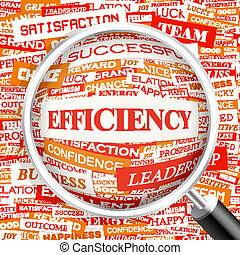 EFFICIENCY. Background concept wordcloud illustration. Print...