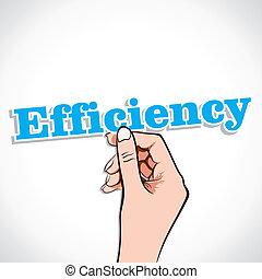 Efficiency Word In Hand