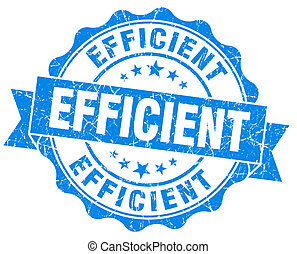 Efficient blue grunge vintage seal